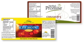 Herbal Pride vitamin labels can be changed easily.