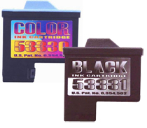 Black and color cartridges for LZ series printers.