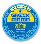 Greek Mama food label printed from digital artwork.