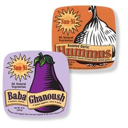 Digital labels for Sun-Ni Cheese are deli food labels printed by Fernqvist Labeling Solutions.